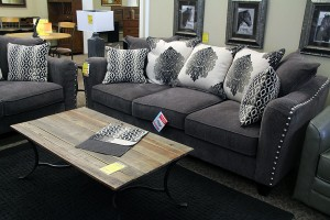 Foothills Family Furniture stocks couches manufactured in California.