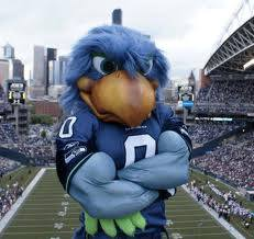 Seattle Seahawks' mascot 'Blitz' will be among the star-studded attendees at Saturday's game. Photo courtesy of Lucky Eagle Casino.