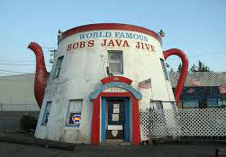 "Bob's Java Jive is featured in the Keanu Reeves movie, ""I Love You to Death."""