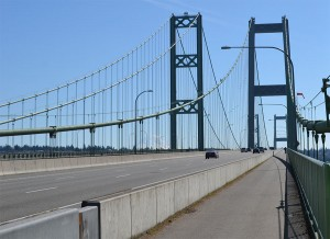 Walk, run or bike across the Narrows Bridge.