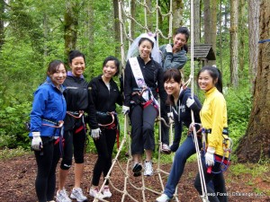 Deep Forest Challenge at Northwest Trek is a great activity bachelor/ette parties, office team building, and more.