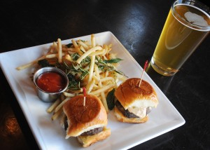 Cheeseburger sliders at Pacific Grill are a happy hour favorite.