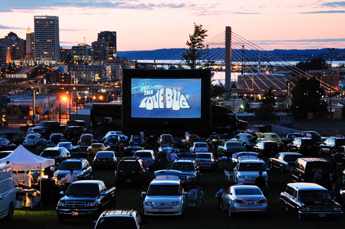 at LeMay's drive-in movie