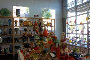 The Tacoma Glassblowing Studio features art made by their artists as well as local Tacoma artists.
