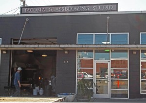The Tacoma Glassblowing Studio creates glass art in their hot shop next door to their gallery.