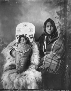 """""""Mother and Papoose"""", Frank La Roche 1889. Photo courtesy of the Washington State Historical Society."""