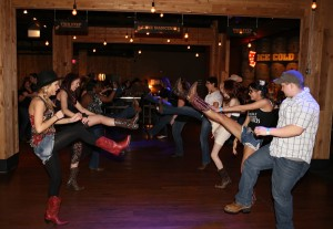 Line dancing is a crowd favorite at Steel Creek. Photo courtesy of Brad Harper.