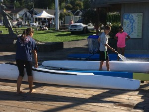 After kayaking, it is important to wash off the vessel. This ensures that it is free of all salt water or river residue and ready for the next outing.