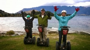 Dr. Brown is joined by his wife, Katie, and son, Nelson, during a Segway tour in New Zealand.  The family is looking forward to exploring the Pacific Northwest.