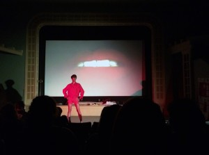 """The Rocky Horror Picture Show"" begins with the famous ""Science Fiction, Double Feature"" theme song."