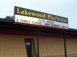 Catch a show at the Lakewood Playhouse from September through June.