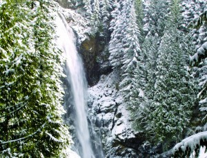 A state parks pass,  warm layers, and the ten essentials are all that's standing between you and gorgeous scenes like this one at Wallace Falls State Park.