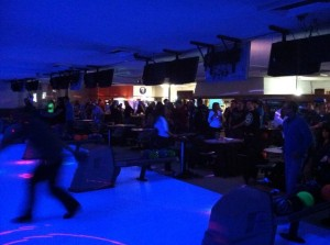 Glow Bowling is a late night favorite at Chalet Bowl.