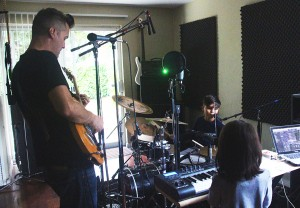 Pig Snout band formed earlier this spring after dad, Justin Tamminga, taught his two kids, Lucien and Dahlia, how to play the drums and keyboards.