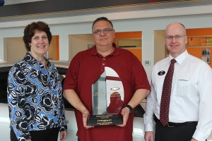 A state and national leader in customer retention and new Chevrolet sales, Sunset Chevrolet owner, Phil Mitchell, has been honored with countless awards, including the Mark of Excellence Award featured here.