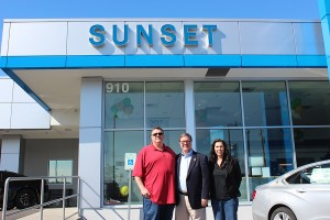 For Sunset Chevrolet owner, Phil Mitchell (left), giving back to the community is a top priority.