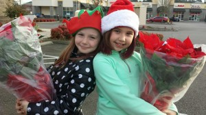 "Boggs Inspection Services ""elves"" delivered over 200 poinsettias to local real-estate offices to say ""thanks."""