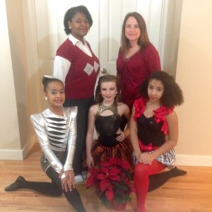 Inspired to Dance was founded by Makeida Hart (L) and Shannon Steadman for their daughters and dancers like them. Left to Right: Zahne Hart (9), Sierra Steadman (11), Nyah Hart (13).