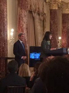 US Secretary of State John Kerry and Art in Embassies Director Ellen Susman presented the U.S. Department of State Medal of Arts awards recognizing the creative and diplomatic accomplishments of seven international artists.