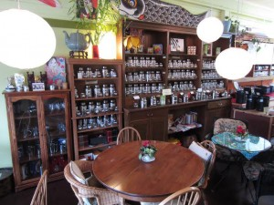 The Vashon Island shop boasts bulk tea in a tranquil space. Photo courtesy of the Vashon Tea Shop.