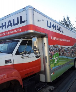 Use a U-Haul to make a military move