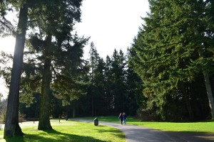 Everyone enjoys walking and jogging the 0.8-mile trail at Bradley Lake Park in Puyallup. Sunny days provide a gorgeous view of the lake and wildlife.