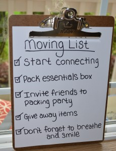 Moving list