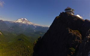 High Rock Lookout  is one of the most perfectly placed lookout towers in the Pacific Northwest. Photo by Douglas Scott.