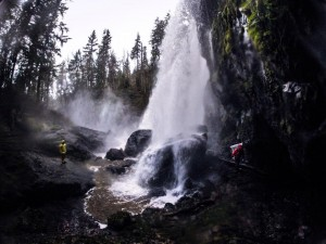 Plummeting 120 feet in a single drop, the waterfall is at its best during the spring runoff, thanks to melting snow. Photo by Jeff Knesebeck.