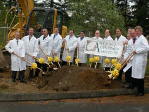 Oly Ortho Westside Clinic ground breaking ceremony.