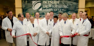 Oly Ortho Westside Clinic ribbon cutting ceremony.