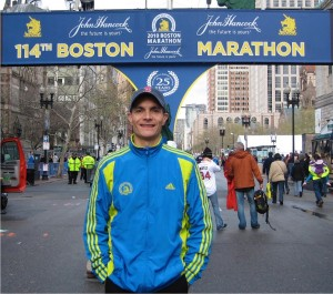 Dr. Tony Agtarap has run the Boston Marathon three times, his most recent finish in 2013.