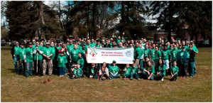 Last year's Comcast Cares Day volunteers pose for the camera after a hard day's work. Photo courtesy of Comcast.