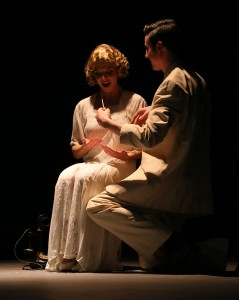 "Veronica Tuttle as Daisy in the Tacoma Little Theatre's production of ""The Great Gatsby"""