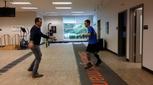 Agility training with IDEO brace at Hanger Clinic