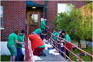 More than 150 volunteers will gather at the Washington Soldiers Home in Orting on Saturday, April 25, for this year's Comcast Cares Day. Photo courtesy of Comcast.