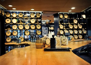 Whiskey ages in oak barrels at Heritage Distilling Company's flagship store in Gig Harbor. Photo courtesy of Heritage Distilling Company.