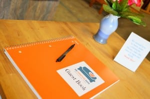 This guest book is a place for clients to leave comments, kudos and suggestions for improvement. The candid and heartfelt thank-you's in these page is a testament to the good work this organization has been doing since 2007.