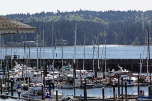 The Poulsbo Marina is one of the most popular places for boaters to visit in Puget Sound.