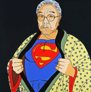 """Roger Shimomura's """"An American Knockoff"""" will be on display at Tacoma Art Museum  from June 20 through September 13, 2015. Image courtesy of Tacoma Art Museum."""