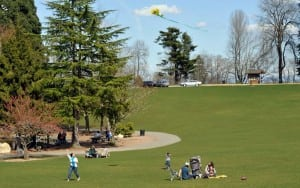 Before the big screen lights up at dusk, enjoy other activities in parks across Tacoma. Photo courtesy of Metro Parks.