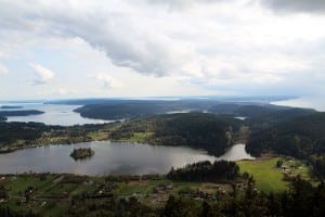 The view from Mount Erie offers sweeping views of Anacortes and the San Juans.