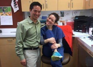 Dr. Tracy Hamblin joined Dr. Vu in Oly Ortho's Sports Medicine Clinic last fall and will continue to partner with area schools this fall.