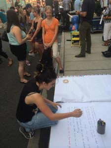During last summer's Downtown Block Party, Creative Colloquy invited attendees to contribute to a community story.