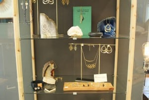 Mood features a variety of wares from local artisans, including this stunning case of locally sourced, handmade jewelry.