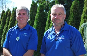 Tom Hitchman (left) and Dwayne Boggs offer comprehensive home inspections for home buyers.