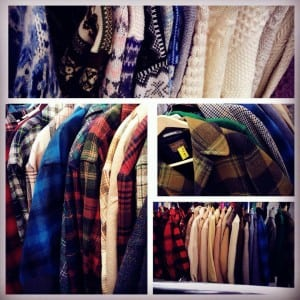 Warm, vintage Pendleton coats, authentic Levi's jeans and a variety of timeless styles can be found on the racks at Pure Vintage Clothing. Photo courtesy: Pure Vintage Clothing.
