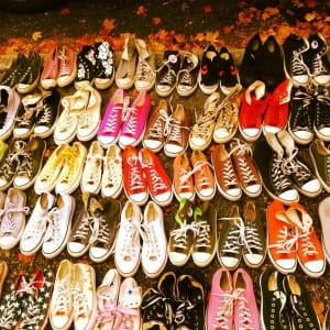 In addition to a massive selection of vintage leather boots, visitors of Pure Vintage Clothing's Tacoma storefront or Etsy shop can discover a colorful world of Converse sneakers, too. Photo courtesy: Pure Vintage Tacoma.