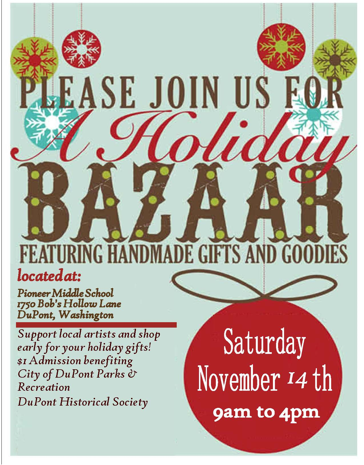 2015 holiday bazaar flyer
