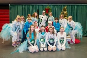 More than 1000 participants will be greeted by Santa at the finish line of this year's Jingle Bell Run. Photo courtesy: Saint Martin's University.